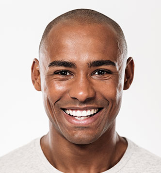 smiling black male with t-shirt